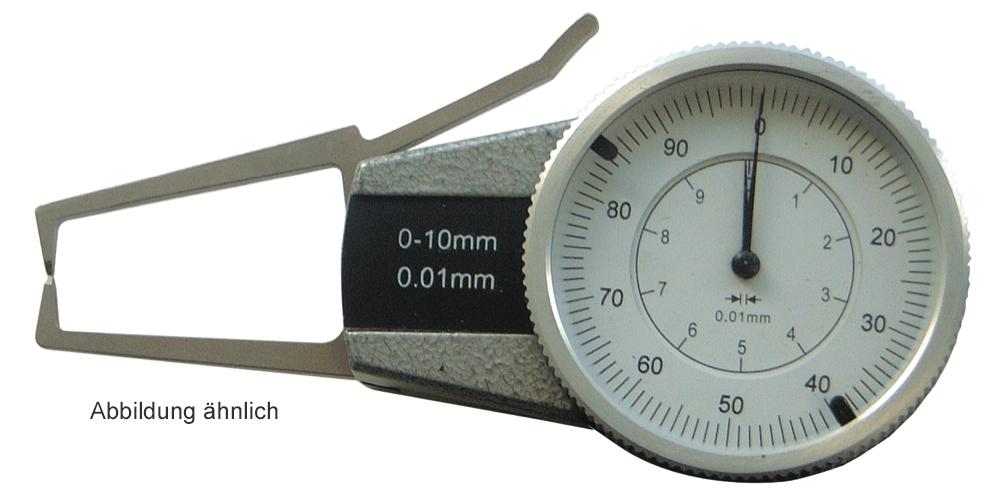 Außen-Schnellmesstaster - Uhranzeige