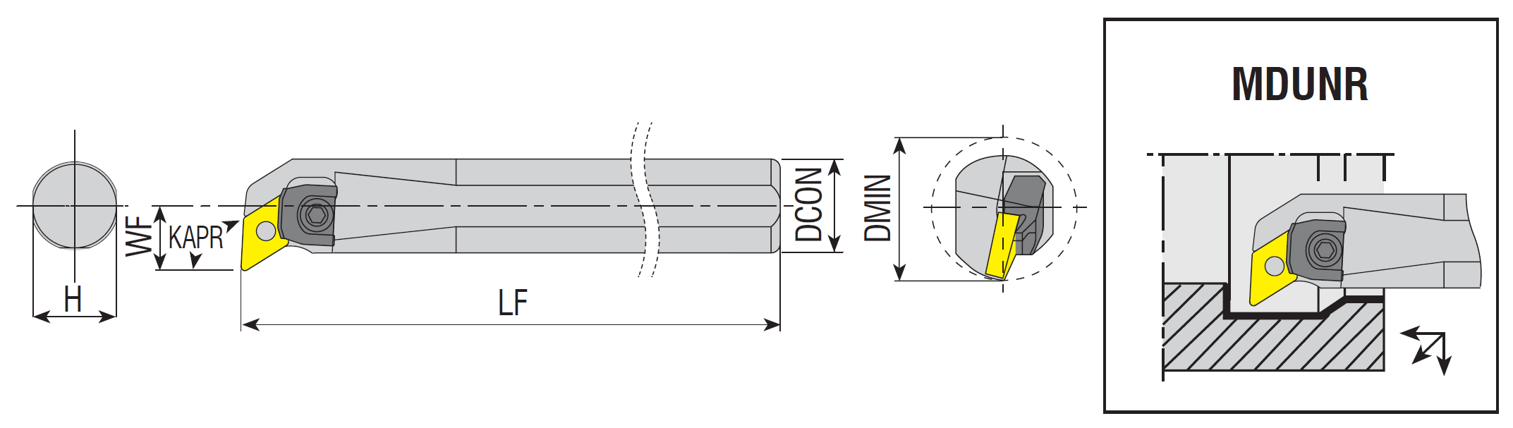 Bohrstangen MDUNR / MDUNL