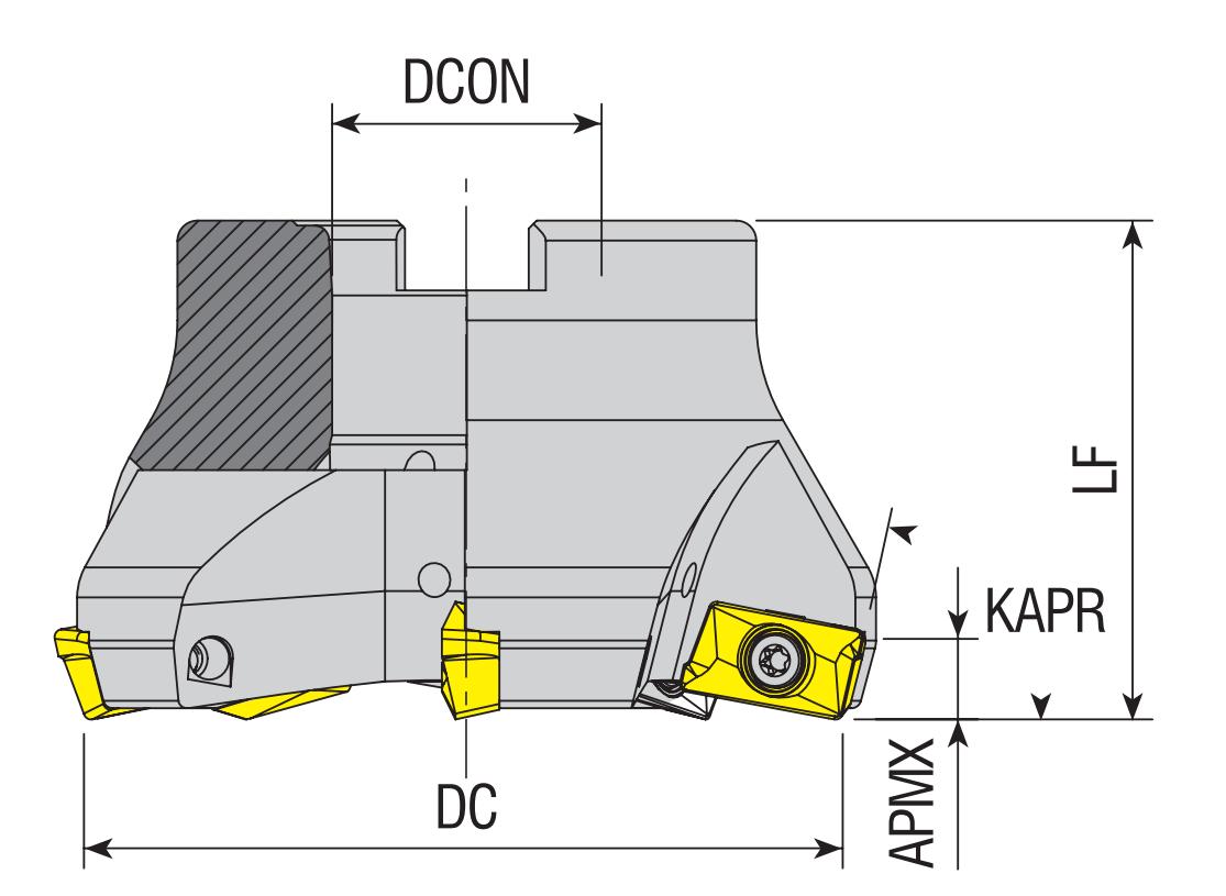 Eckmesserkopf 75° für APKT 16..