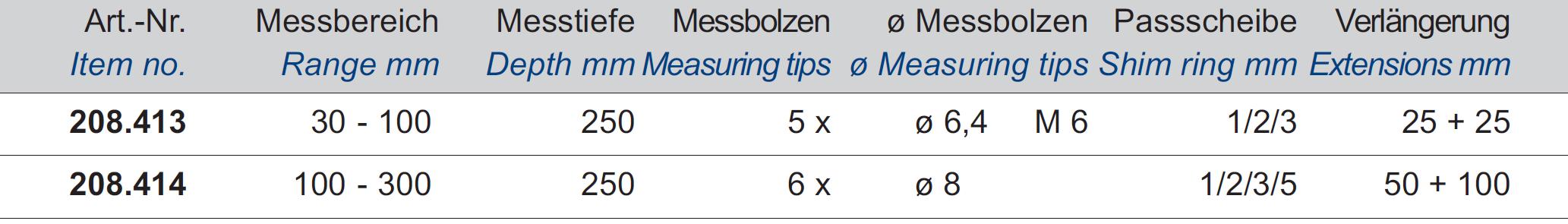 Innen-Feinmessgerät mit Messuhr - Großer Messbereich