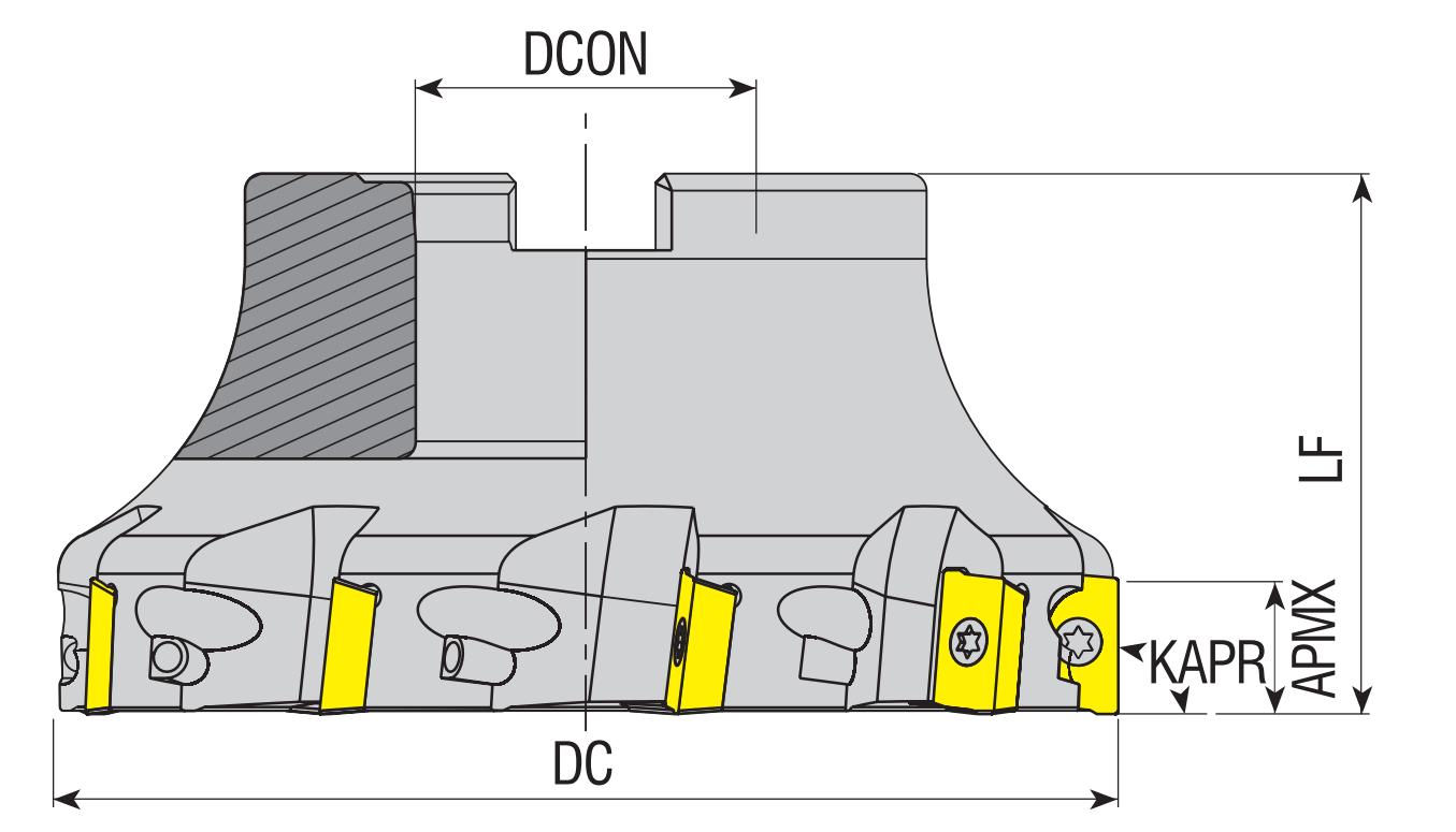 Eckmesserkopf 90° für R390 / BPKT