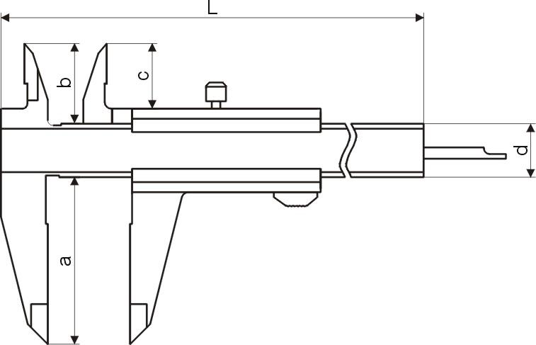 Taschen-Messschieber - Werkzeugstahl