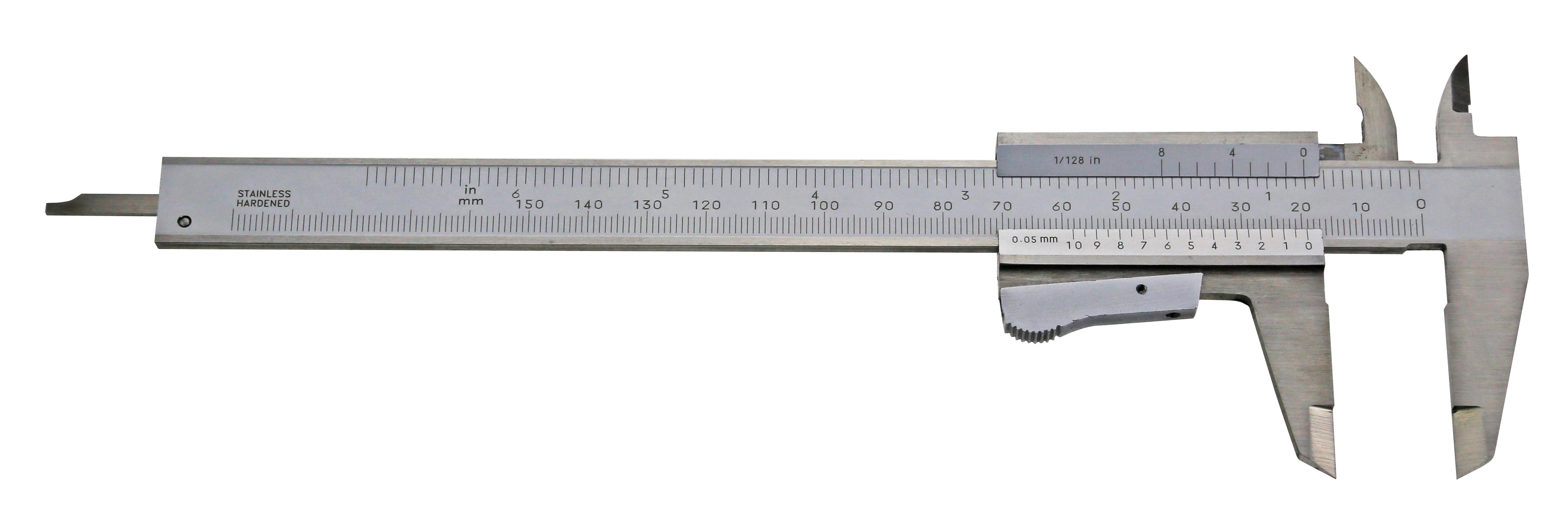 Taschen-Messschieber - rostfreier Stahl - für Linkshänder