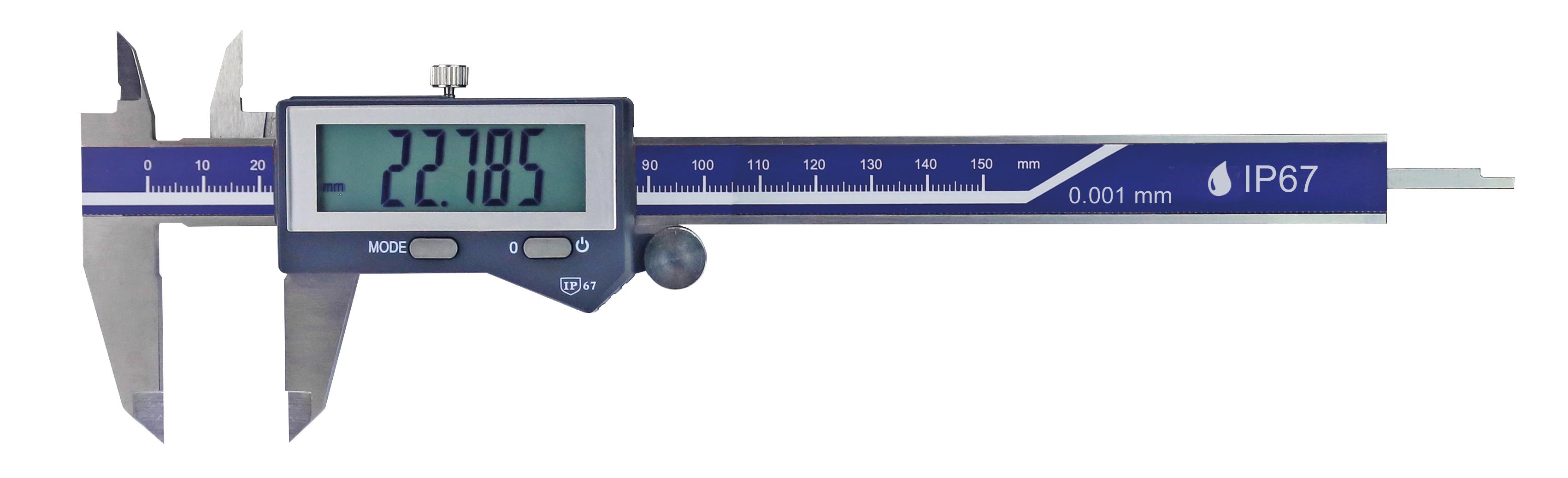 Digital-Taschen-Messschieber - Ablesung 0,001 mm - IP67 Schutz