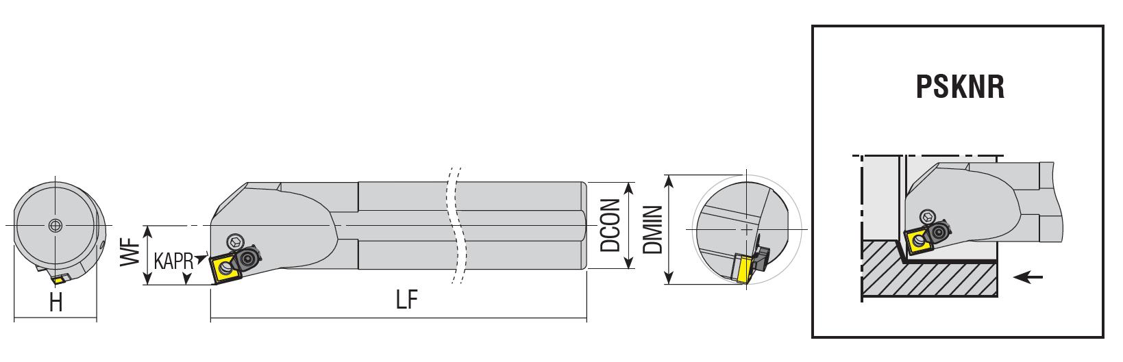 Bohrstangen PSKNR / PSKNL
