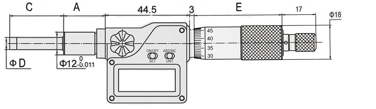 Digital-Einbau-Messschraube DIN 863