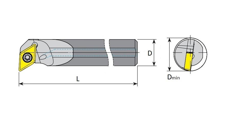 HM Bohrstangen SDUCR / SDUCL mit Innenkühlung