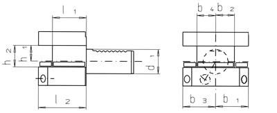 VDI Vierkant-Mehrfach-Aufnahme - Überkopf - Typ D2