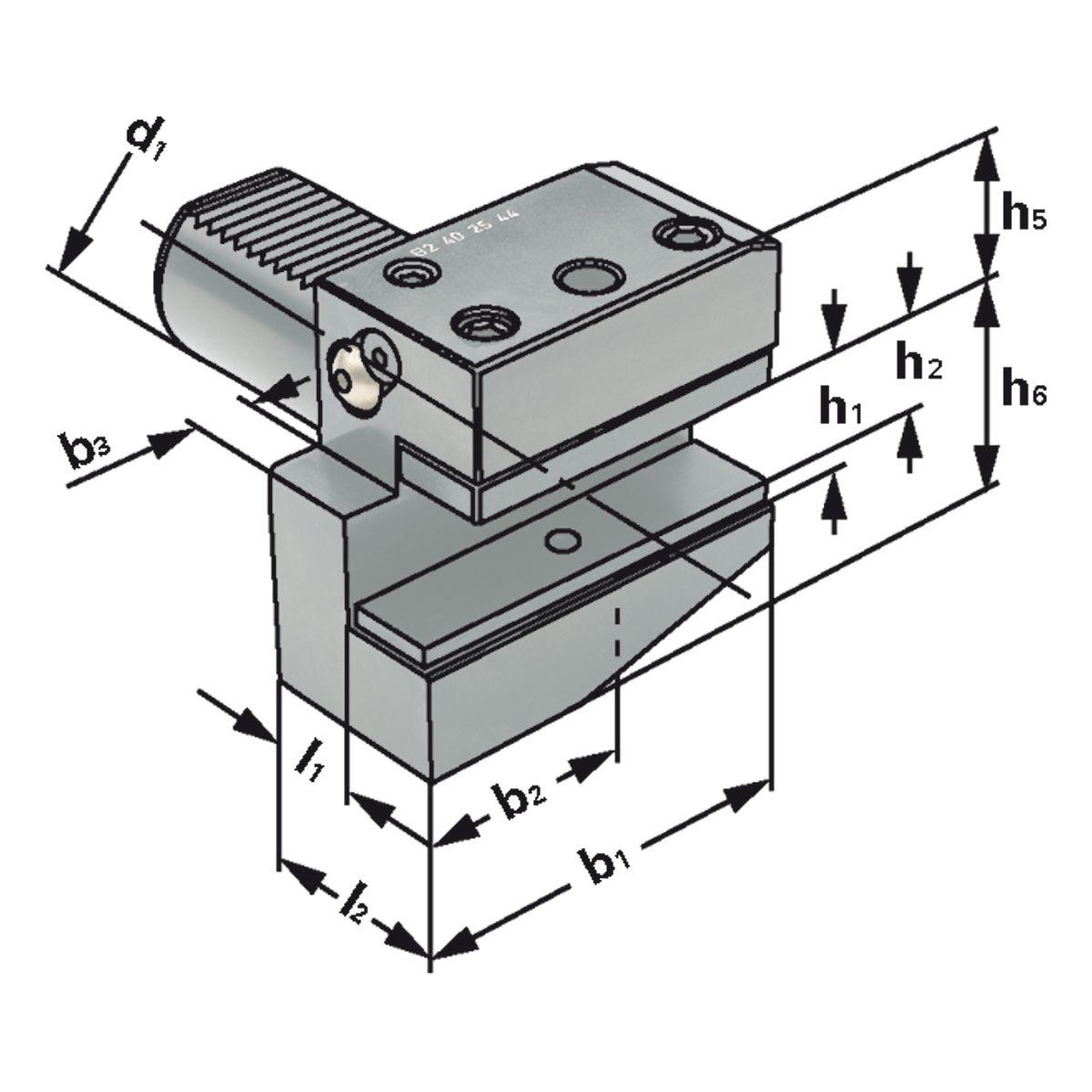 VDI Radial-Werkzeughalter - Kurz - Typ B1/B2