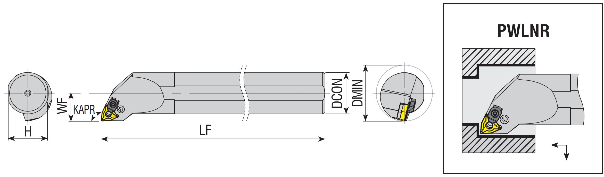 Bohrstangen PWLNR / PWLNL