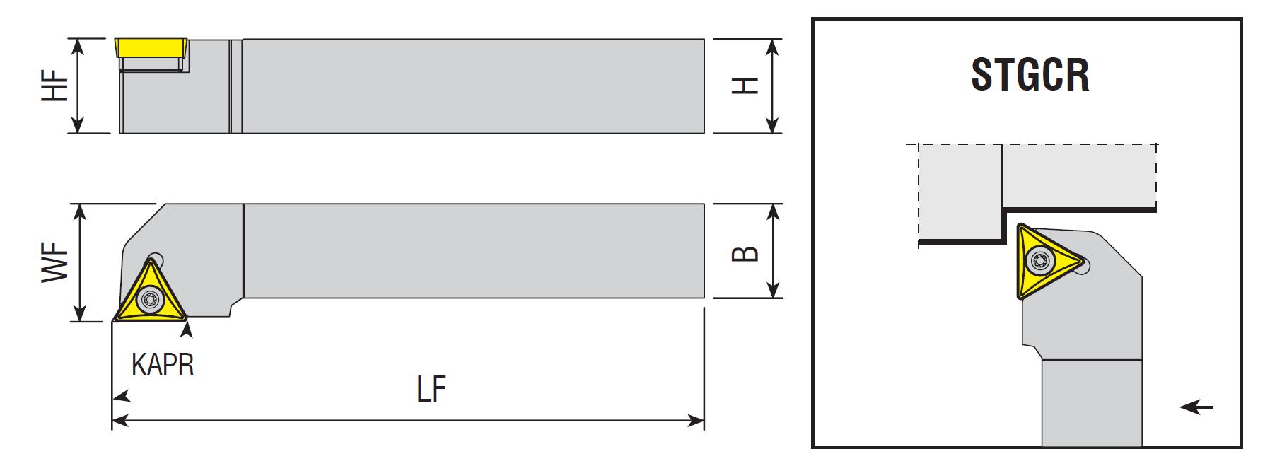 Drehhalter STGCR / STGCL