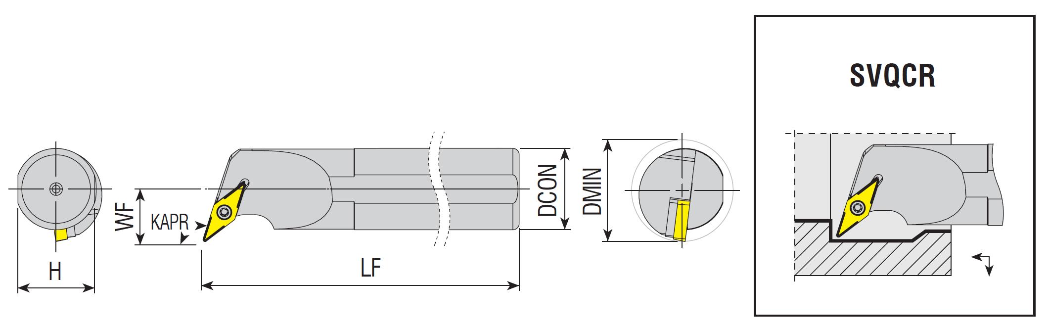 Bohrstangen SVQCR / SVQCL