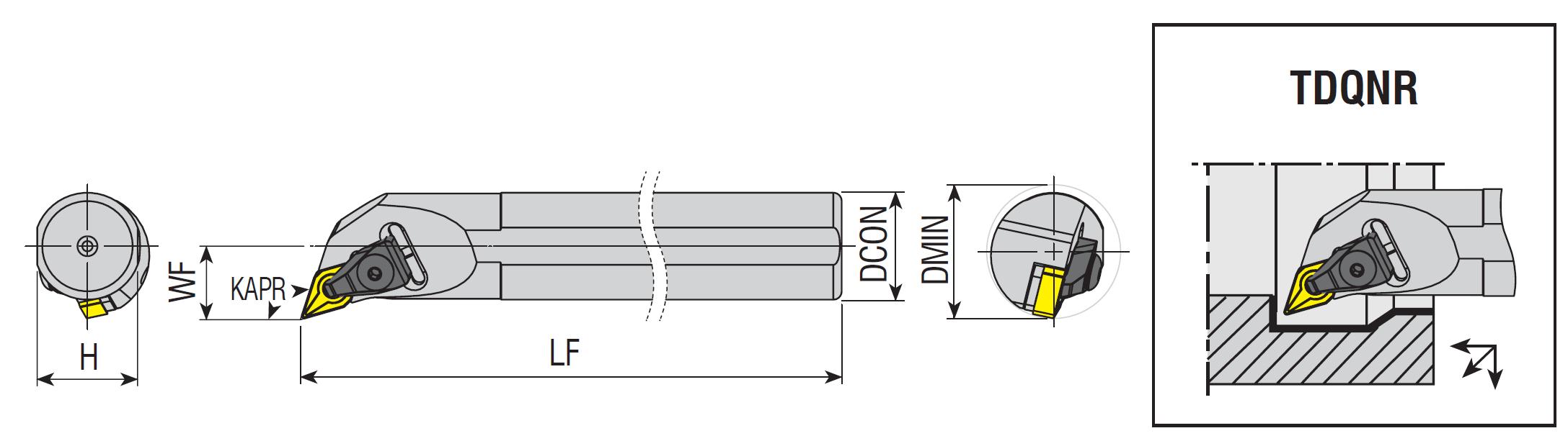 Bohrstangen TDQNR / TDQNL