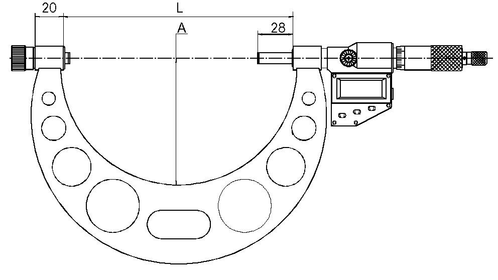 Digital-Bügelmessschraube - Großer Messbereich - Auswechselbarer Amboss