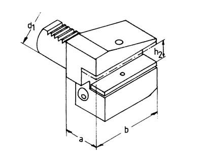 VDI Radial-Werkzeughalter - Kurz - Überkopf - Typ B3/B4