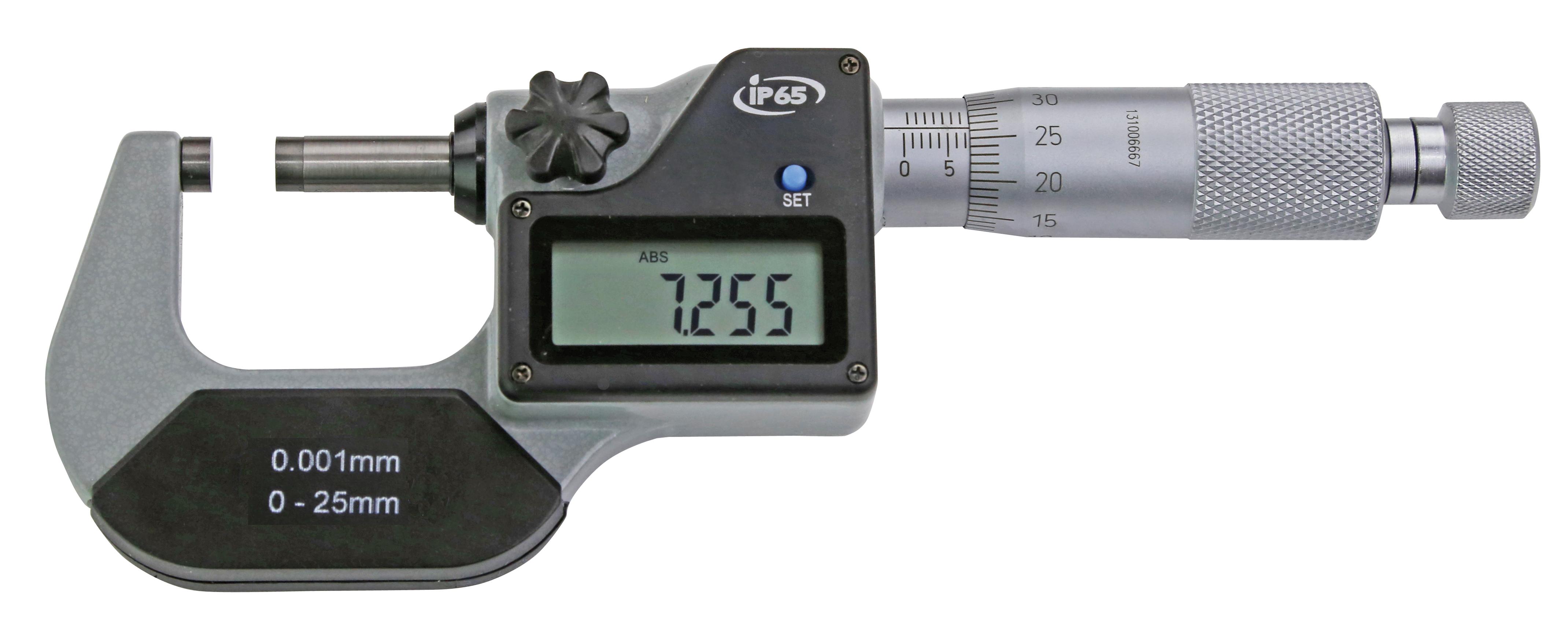 Digital-Bügelmessschrauben DIN 863 - IP 65 - nur mm-Anzeige