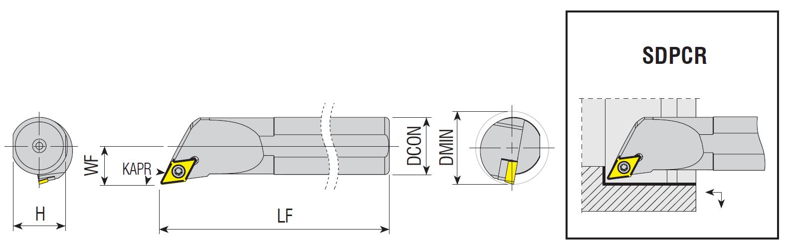 Bohrstangen SDPCR / SDPCL