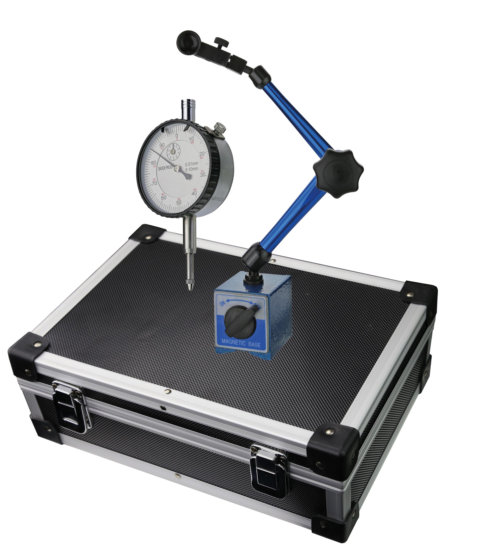 Messuhr 10 mm + Magnet-Messstativ