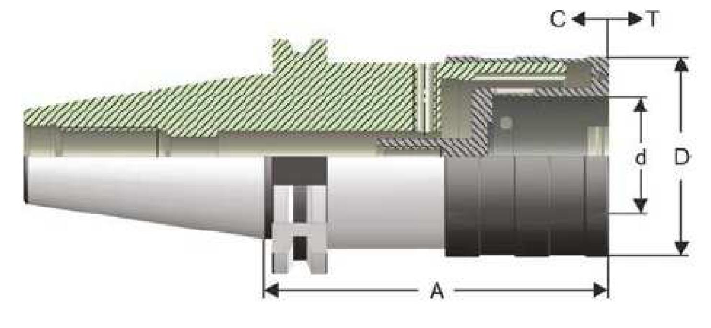 SK50 - Gewindeschneidschnellwechselfutter - DIN 69871 AD