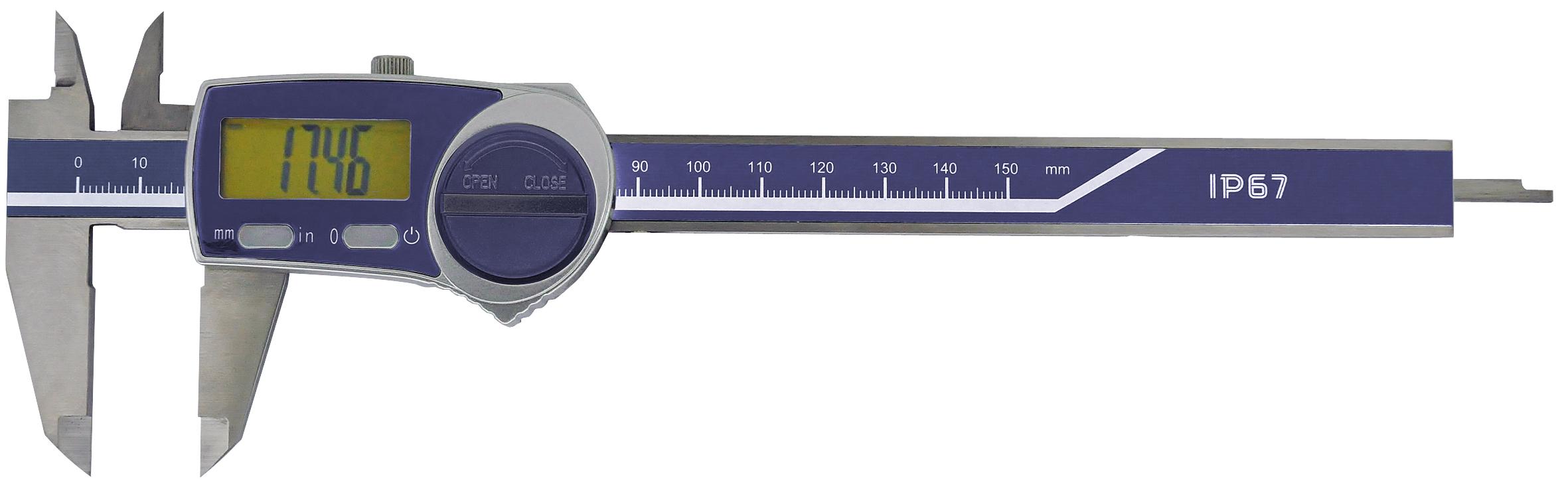 Digital-Taschen-Messschieber - IP67 Schutz