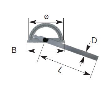 Gradmesser - Stahl - Verstellbare Schiene