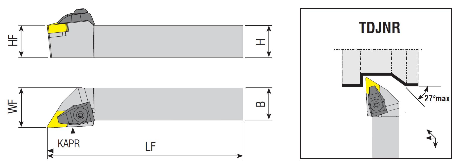 Drehhalter TDJNR / TDJNL