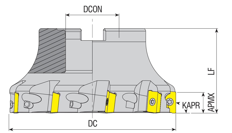 Eckmesserkopf 90° für APKT 10..
