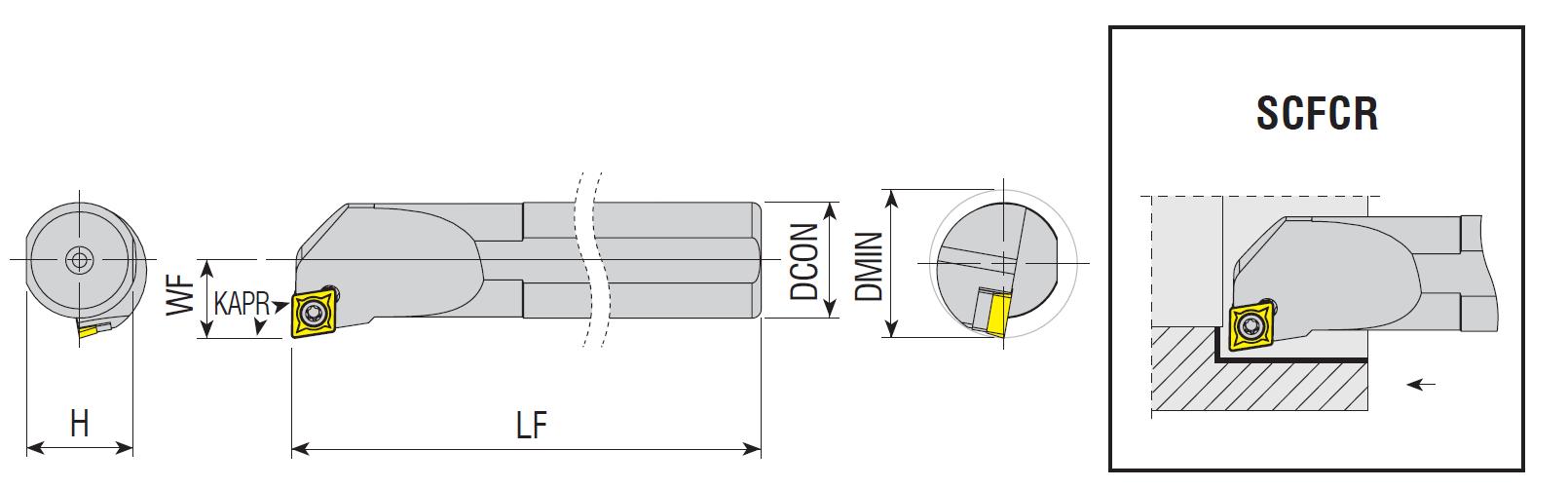 Bohrstangen SCFCR / SCFCL