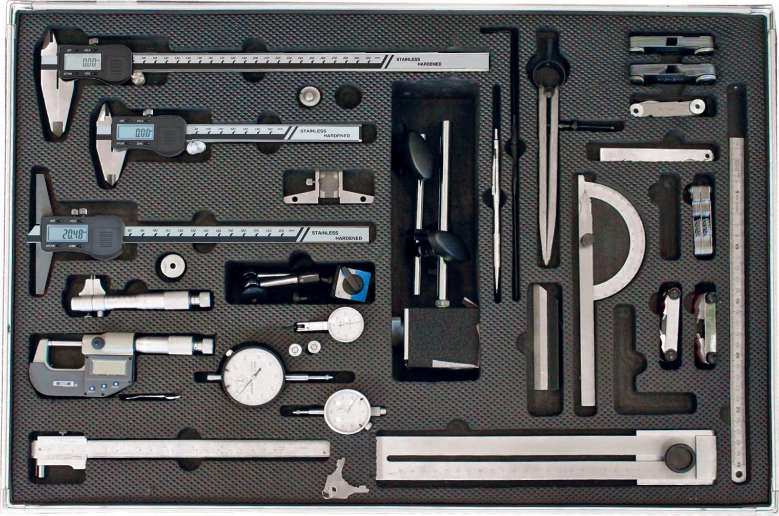 Messzeug-Satz - Werkstattgrundausstattung - 28-teilig