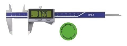 Digital-Taschen-Messschieber IP67 DIN 862 - Mit Kalibrierzertifikat