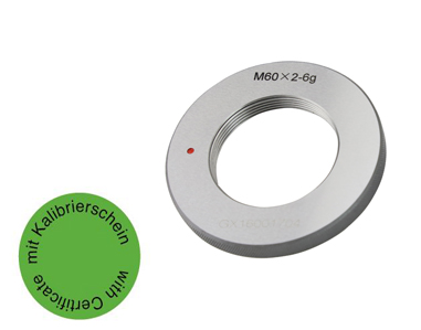 Gewindelehrring Ausschuss 6g - Metrisch Fein - ab M60