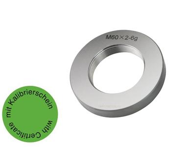 Gewindelehrring Gut  6g - Metrisch Fein - ab M60