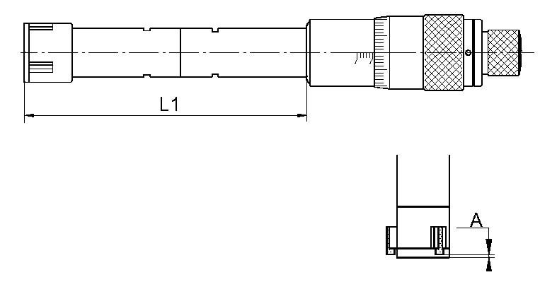 Dreipunkt-Innen-Messschraube
