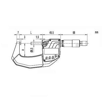 Digital-Bügelmessschraube DIN 863