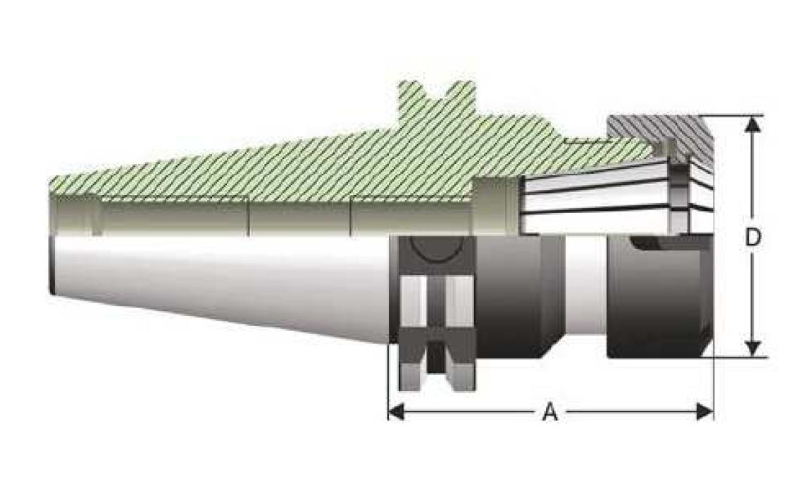 SK50 - Spannzangenaufnahme - DIN 69871 AD