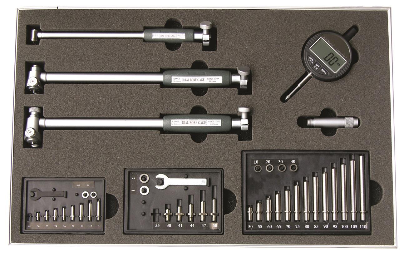 Präzisions-Innen-Feinmessgeräte-Satz mit Digital-Messuhr - 18 - 160 mm