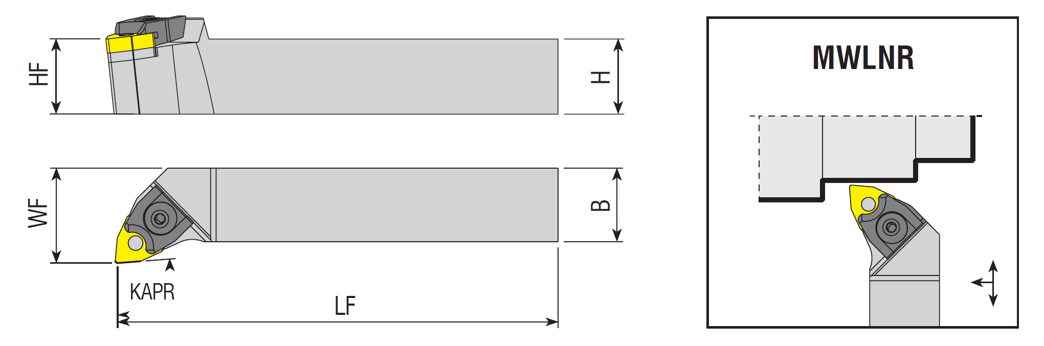 Drehhalter MWLNR / MWLNL