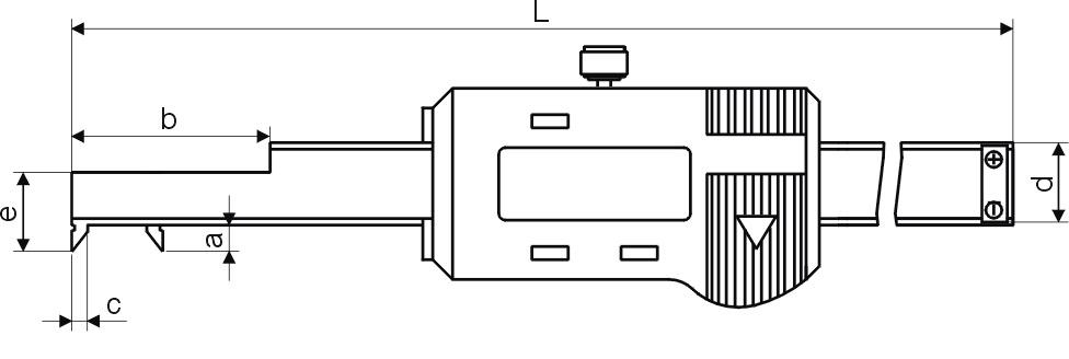 Digital-Innen-Nuten-Messschieber - Kurzer Schnabel