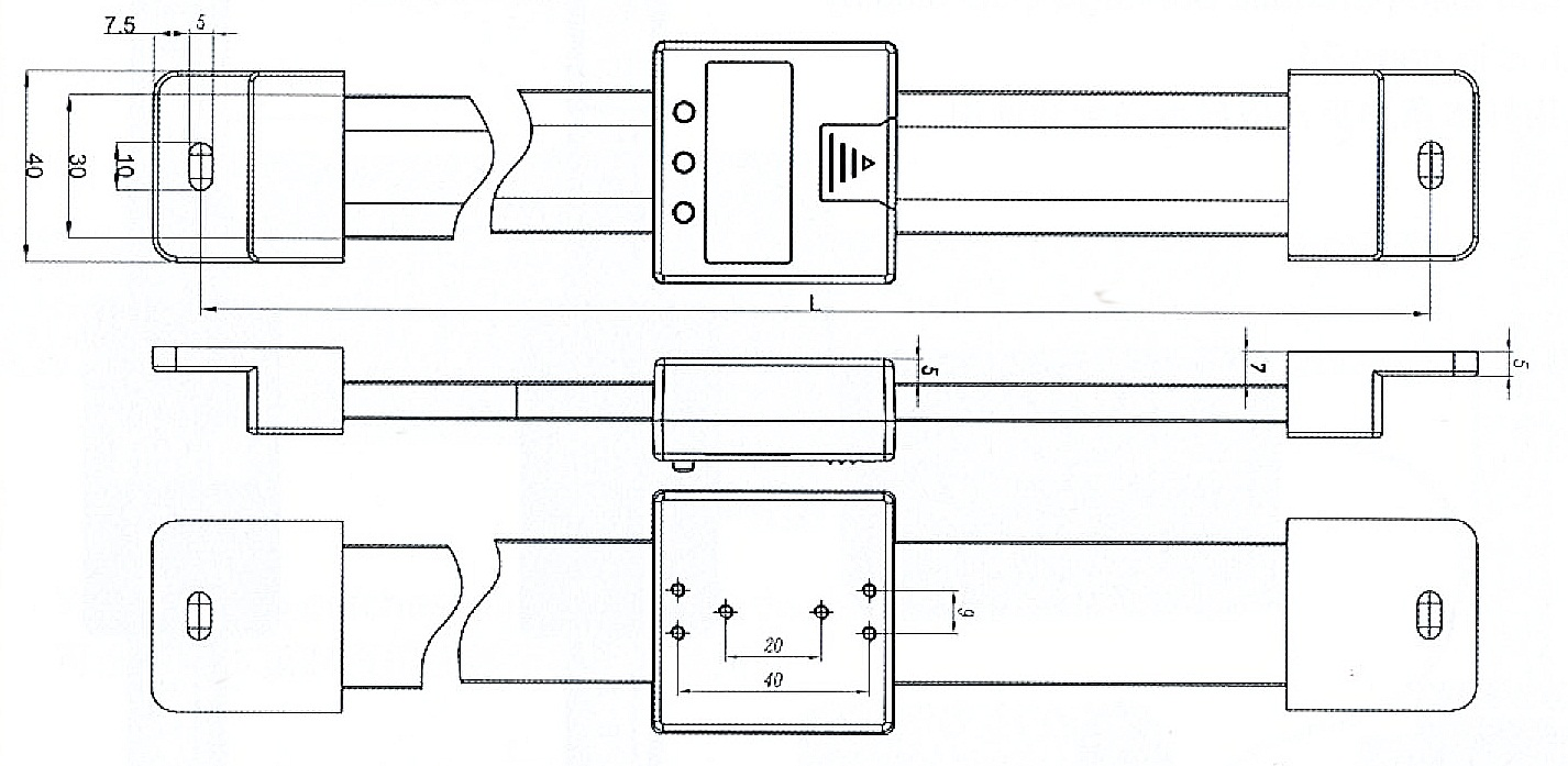 Digital-Einbau-Messschieber - waagerecht