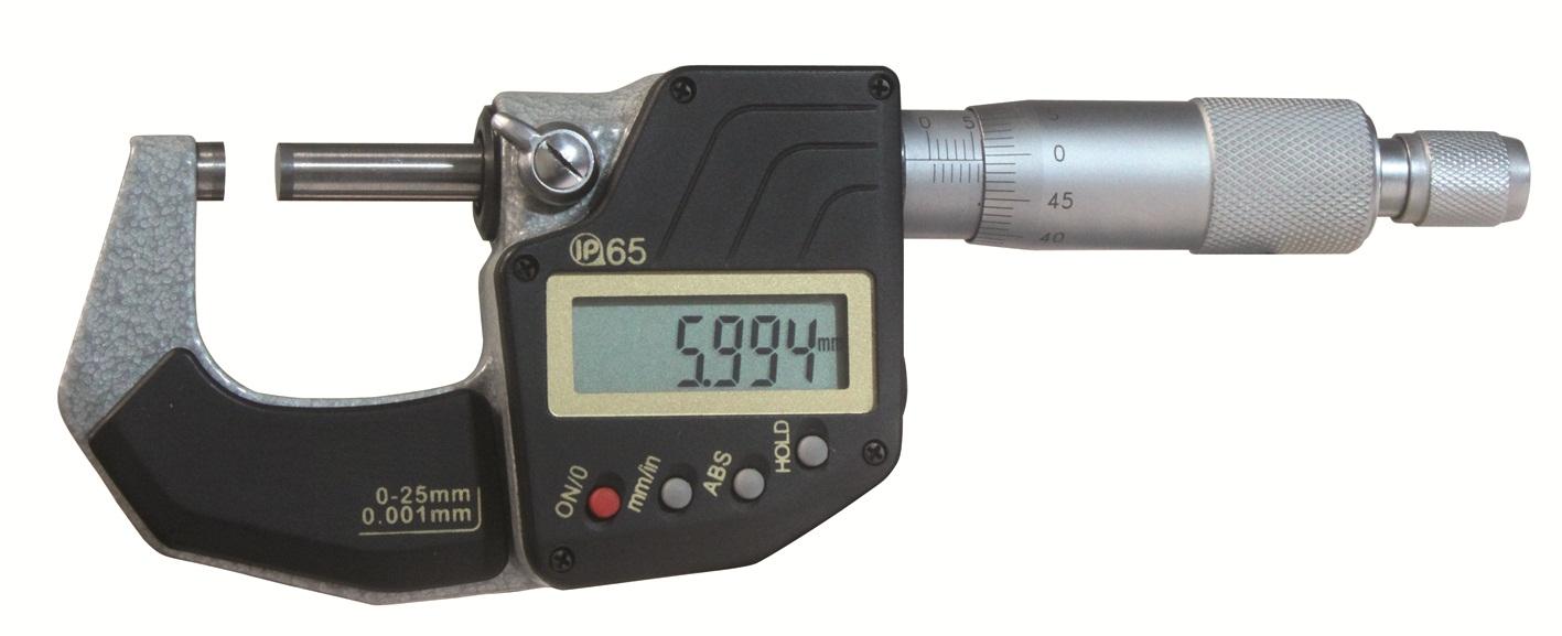 Digital-Bügelmessschraube DIN 863 - IP 65