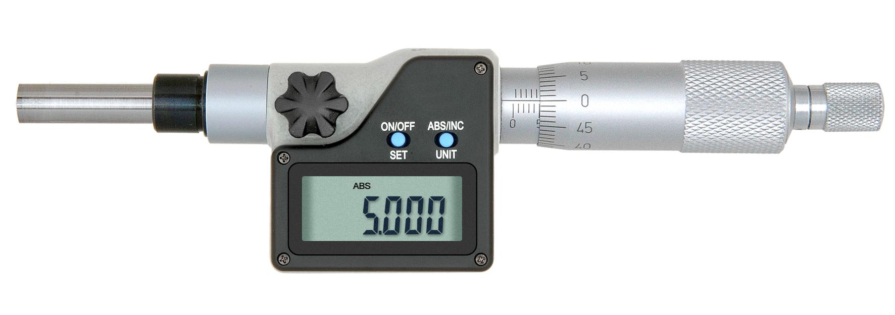 Digital-Einbau-Messschraube DIN 863 - 25 mm - mit Aufnahme Ø5 mm