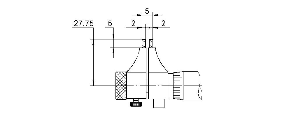 Innen-Messschraube - Flache Messflächen