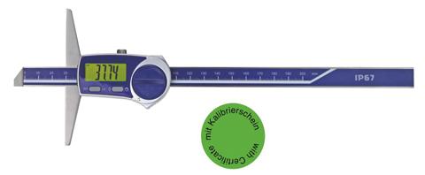 Digital-Tiefen-Messschieber DIN 862 - IP 67 - Mit Kalibrierzertifikat