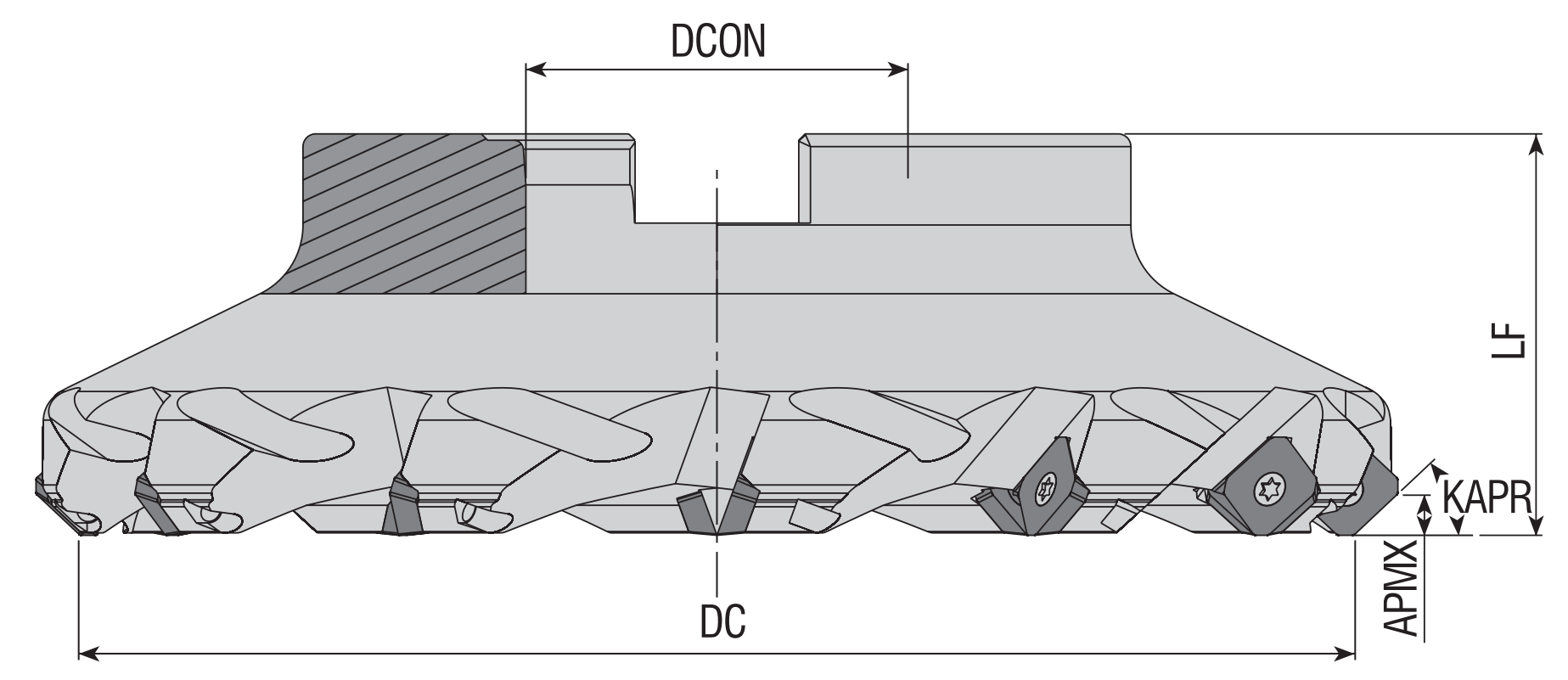 Eckmesserkopf 45° für SEHT