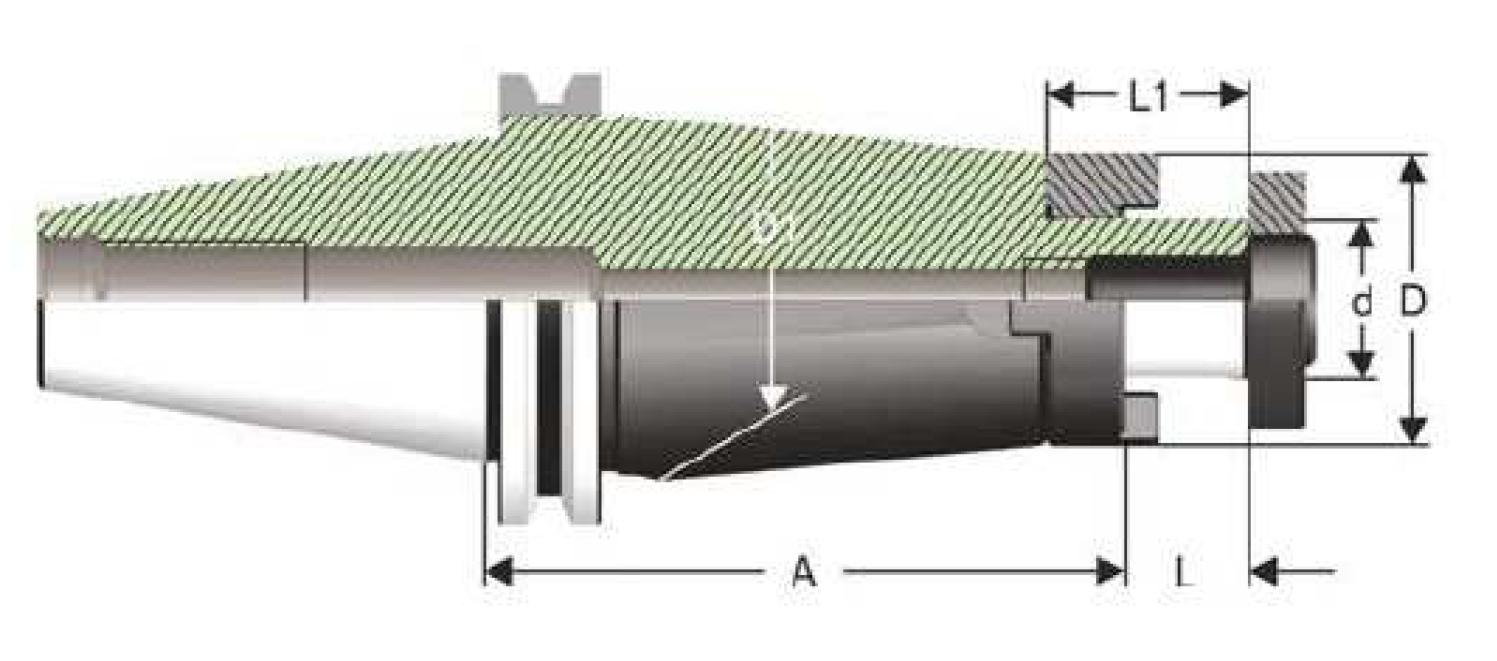 SK50 - Kombi-Aufsteckfräsdorne - DIN 69871 AD