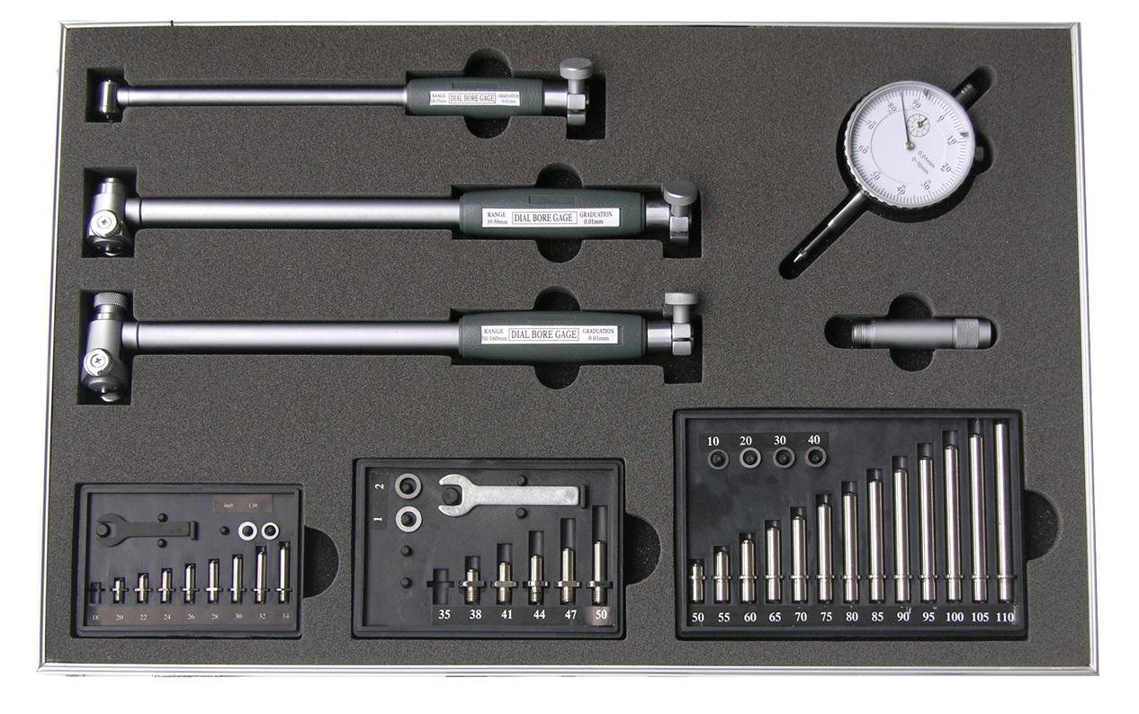 Präzisions-Innen-Feinmessgeräte-Satz mit Messuhr - 18 - 160 mm