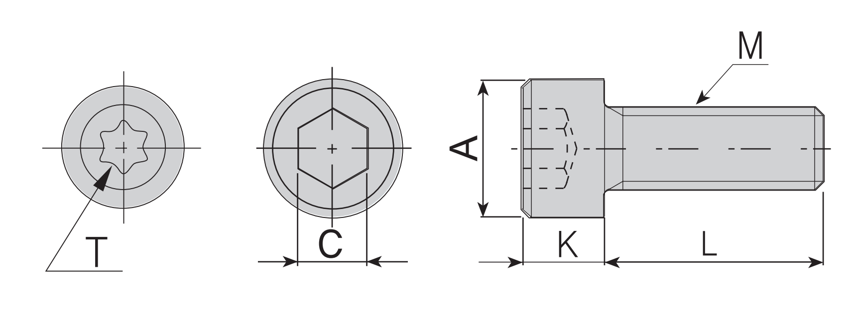 Innensechskant- / Befestigungs- Schraube