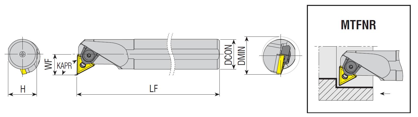 Bohrstangen MTFNR / MTFNL