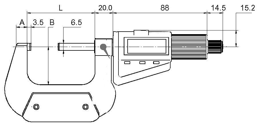 Digital-Bügelmessschraube DIN 863 - mit Friktionsratsche