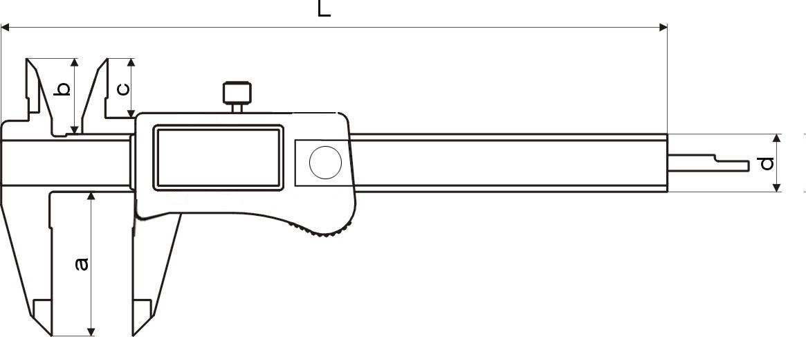 Digital-Taschen-Messschieber DIN 862 - Mit Kalibrierschein